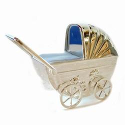 Billede af Sparegris - barnevogn med blå