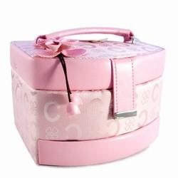 Lille rosa smykkeskrin