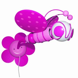 Bi b�rnelampe - pink
