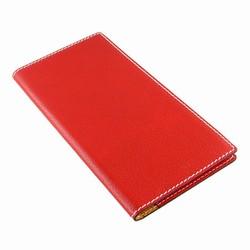 Billede af Visitkort mappe - rød læder