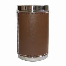Billede af Vinkøler - brun læder
