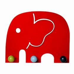 Oscar - rød elefant knagerække
