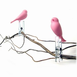 Peg Sparrow pink - klemmer 6 stk.