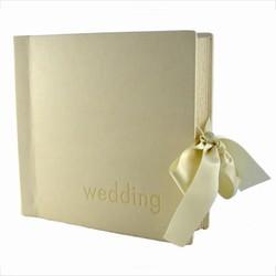 Bryllupsalbum - creme l�derlook
