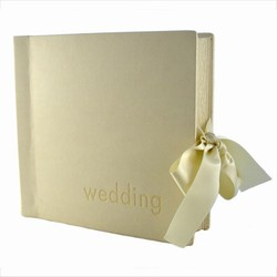 Bryllupsalbum - creme læderlook