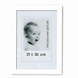 Hvide fotorammer - 21x30 cm (3 stk.)