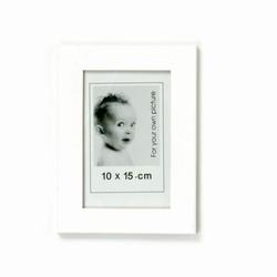 Hvid fotoramme - 10x15 cm