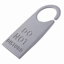 """Billede af Dørstopper """"Do not disturb"""" - grå"""