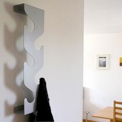Billede af Wave coatrack - sølvfarvet / grå knagerække