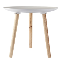Bord med hvid plade - large