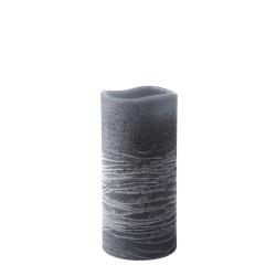 N/A – Led bloklys med timer - grå 15 cm fra fenomen