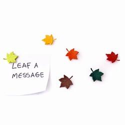 """N/A """"leaf a message"""" blad magneter - 6 stk. fra fenomen"""