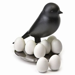 N/A Sort fugl med magneter på fenomen