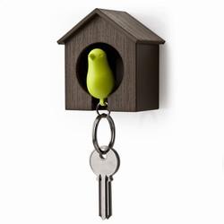 Nøgleholder fuglehus - grøn/brun