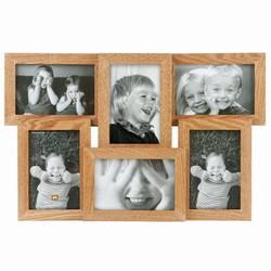 Fotoramme til 6 billeder - lyst tr�