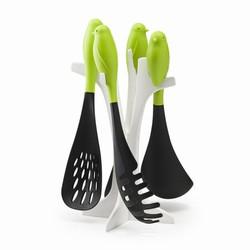 Køkkenredskaber med fugle - grøn/sort