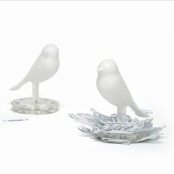 N/A Hvid fugl clipseholder fra fenomen