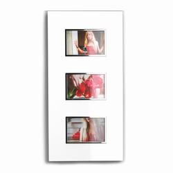 Fotoramme med 3 billeder - hvid
