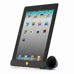 Billede af Hornstand til iPad - sort/gul