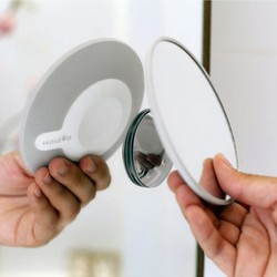 Forstørrelses spejl med sugekop