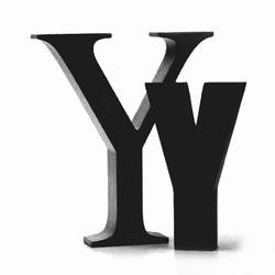 Billede af Sort bogstav - Y