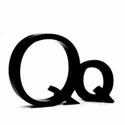 Sort bogstav - Q