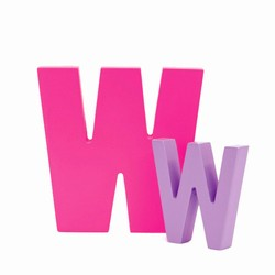 Billede af Bogstav W - pink