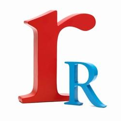 Billede af Bogstav R - blå