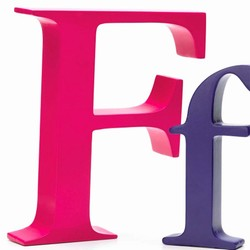 Image of   Bogstav F- pink