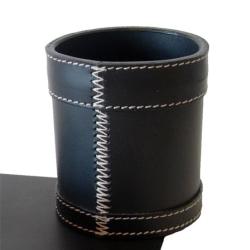 Pencup - sort læder