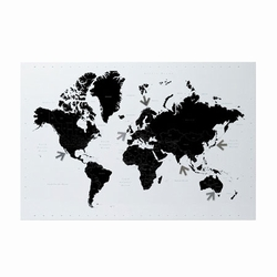 Verdens kort - magnetisk tavle