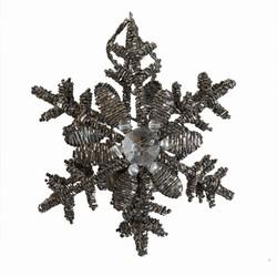 Billede af Snowflake lysestage - grå