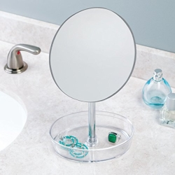 Spejl med rund akryl holder