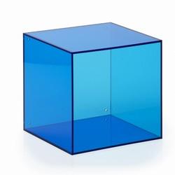 Billede af Akryl kasse kvadratisk - blå