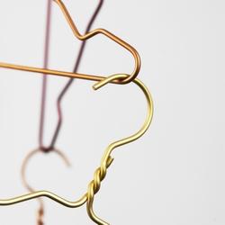 Billede af Alu hanger Nomess - guld 5 stk.