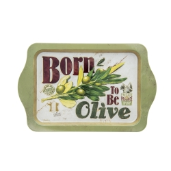 Image of   Metal bakke - Born to be olive