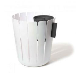 Billede af Papirkurv med affaldsspand - hvid/sort