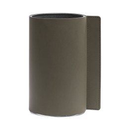 Block læder vase i army green - medium