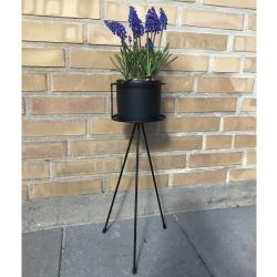 Billede af Blomster opsats med potte - H 50 cm