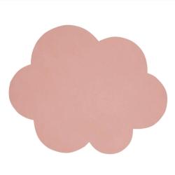 Billede af Dækkeserviet i læder - rosa sky