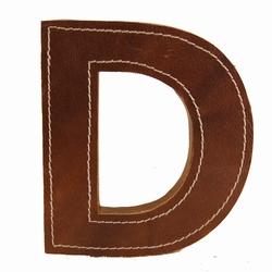 Billede af Læder bogstav - D