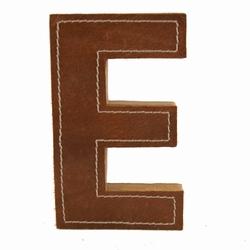 Billede af Læder bogstav - E