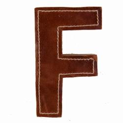 Billede af Læder bogstav - F