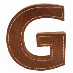 Billede af Læder bogstav - G