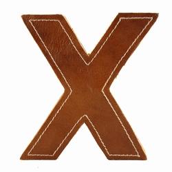 Billede af Læder bogstav - X