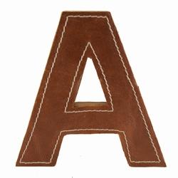 Billede af Læder bogstav - A
