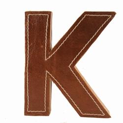 Billede af Læder bogstav - K