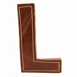 Billede af Læder bogstav - L