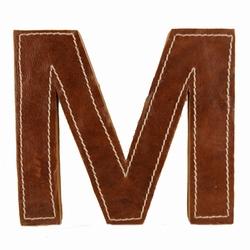 Billede af Læder bogstav - M