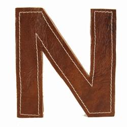 Billede af Læder bogstav - N